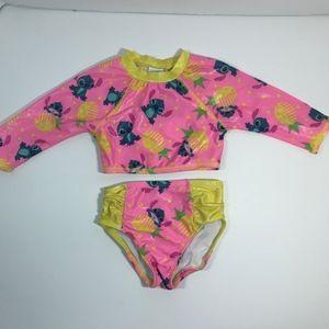 Disney Lilo & Stitch Girls Two Piece Swimsuit 2T